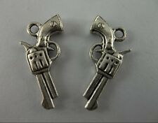 20pcs beautiful Tibetan silver toy gun charm pendant 10x21  mm