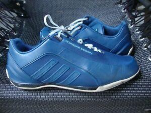 Adidas PORSCHE DESIGN Drive Athletic II Sneaker 42 2/3 Leder Blau s.getragen