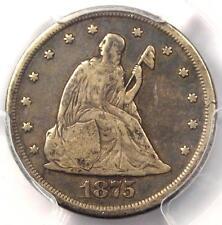 1875-CC Twenty Cent Piece 20C (Carson City) - Certified PCGS F15 - $650 Value