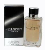 SILVER SHADOW by Davidoff 1.7 oz EDT eau de toilette Men's Spray Cologne New NIB