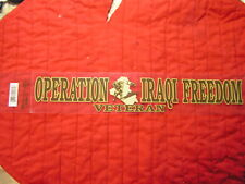 OPERATION IRAQI FREEDOM  VETERAN STICKERS OUTSIDE APP.