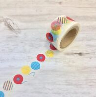 Balloons Washi Tape Papercraft Cards Planner Supply DIY Crafts birthday invites