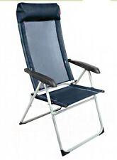 Crusader LOLLIE Pop Garden Caravan Folding 6 Position Reclining Chair - Black X2