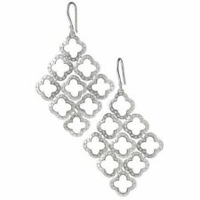 Chandelier Silver Signature Clover Dot Earrings  Stella Style Plated Chandeliers