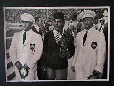Sammelbild Siergerehrung für das Gewichtheben Olympia 1936 - b6930