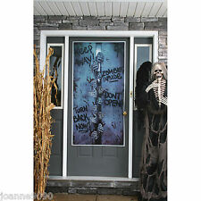 SCARY SPOOKY ZOMBIE HANDS KEEP AWAY HALLOWEEN PARTY DOOR COVER POSTER DECORATION