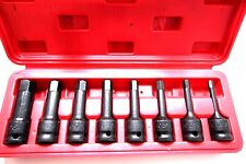 8PC 1/2 DR ALLEN HEX DRIVER IMPACT SOCKET SET ( MM)