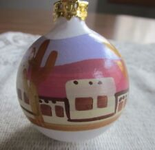 RARE Scotty's Castle Death Valley California Hand Painted Christmas Ornament