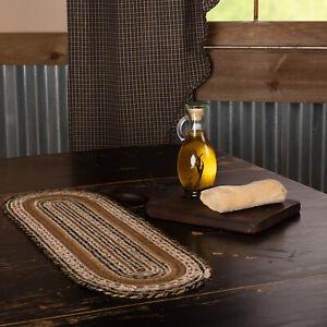 "VHC Brands Primitive 8""x24"" Table Runner Tan Kettle Grove Kitchen Table Decor"