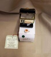 Miniature Espresso Coffee Machine Hinged Trinket Treasure Box Trinket Coffee Cup