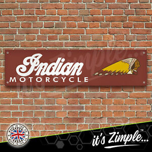 INDIAN MOTORCYCLES Banner Garage Workshop PVC Sign Car Display
