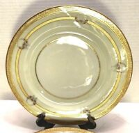 """ATQ W M Guerin & Co France Limoges Set of 4 Serving Plate 11"""" Gold Cream White"""