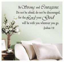 BE STRONG AND COURAGEOUS JOSHUA 19 QUOTE RELIGIOUS VINYL DECAL WALL STICKER BS