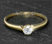 Brillant Diamant 585 Gold Ring 0,30ct; River D; Si1-2; Weißgold Damenring NEU
