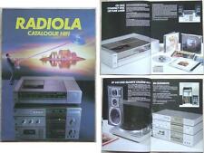 BROCHURE HIFI RADIOLA 1984