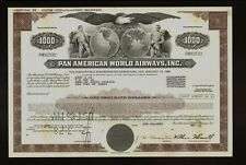 Pan Am American World Airways Usd 1,000 Bond 1979