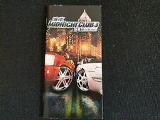 Midnight Club 3: DUB Edition, Sony PSP Game Manual, Trusted Ebay Shop