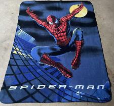 46�x63� Spiderman Fleece Blanket Throw Wall Decor Marvel Tapestry Maybe Vintage