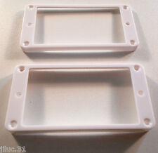 NEW 2 Mountings ring incurvés - blancs - pour Les Paul, SG - contour