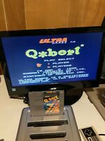 🔥100% WORKING NINTENDO NES RARE FUN ARCADE CLASSIC Game Cartridge - Q-BERT 🔥
