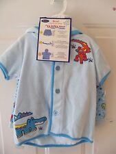 Wee Wave Boys 3 Pc Bathing Suit Set (Swimtrunks,Hoodie,Sunglasses) Blue NEW HTF