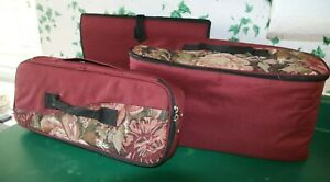Set of 3 Sewing, Needlework, Crafts Project Cases Totes, Cases, Organizers