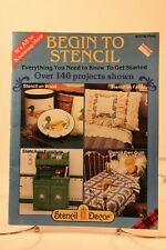 1 Stencil Project book Begin to Stencil over 140 projects vintage