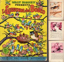 LA LEGGENDA DEL BOSCO-Album Disegni Disney 1939-Mondadori-PIPPO-PAPERINO-Pluto
