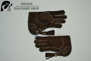 OFS Childs Brown Suede Double Layer Glove Size Small