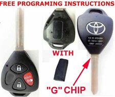 "TOYOTA LOGO OEM 3 BUTTON REMOTE VIRGIN CHIP NEW ""G"" ON BLADE UNCUT KEY HYQ12BBY"
