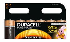 Duracell Plus Power C Size Alkaline Battery - 6 Count