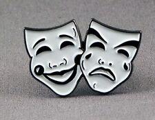 Metal Enamel Pin Badge Brooch Masks Theatre Performing Arts Drama Stage Actors