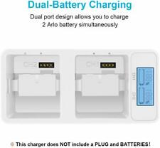 Arlo Battery Charger Station Dual Rechargeable Batteries Charging For Pro Pro 2