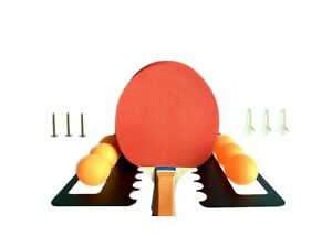 Ping Pong & Table Tennis Storage Rack, Wall Mount Holds 6 Balls and 7 Paddles...