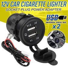 Car Charger Double USB Port Dual 12V Cigarette Socket Lighter Plug Power Adapter