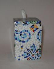 Antoni GAUDI modernist Ceramica Mosaico Senape pentola con cucchiaio