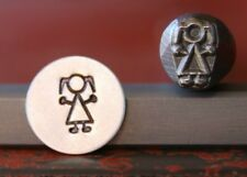 SUPPLY GUY 7mm Little Girl Metal Punch Design Stamp SGDK-11, Made in the USA