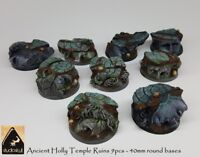 40mm Ancient Holly Temple Ruins 9pcs - round bases AGE OF SIGMAR WARHAMMER 40K
