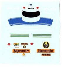 planche decals 1/18 tenue B. Wollek Jägermeister