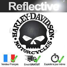 Sticker Harley Davidson Motorcycles SKULL 9,4 cm par 9,3 cm NOIR Réfléchissant