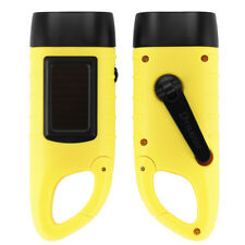 2 Pack Hand Crank LED Flashlight Solar Powered Rechargeable Emergency Camp Torch