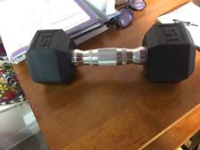 Cap Dumbbell 15 lb Coated Hex Dumbbell, Single - Gently Used