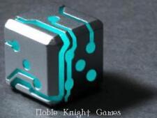 Space Roller Glow in the dark RPG Dice Silver w/Blue Glow (2) MINT