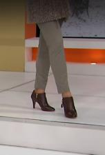 Sigrid Olsen Studio Women's Bi-Stretch Slim Seam HSN Pants Taupe Size 4  $89.00