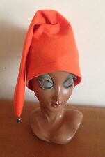 Orange Pointed Hat Elf Gnome Pixie Dwarf Fairy Tale Fancy Dress Costume M