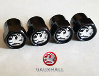 Black Vauxhall Wheel Valve Dust Caps. Corsa Antara Astra Insignia Adam Mokka (B)