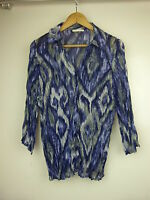 REGATTA Sz 14 Top/blouse/shirt Blue grey purple print
