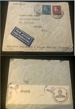 1941 Belgium #295 or #295a,#302 on German censored cover, Tubize to Us *d