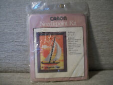 Caron Needlepoint Kit Sailboat 5x7 VTG NIP