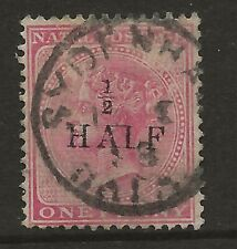 NATAL  SG 90  1877 TYPE (f) SURCHARGE    GOOD/FINE USED.